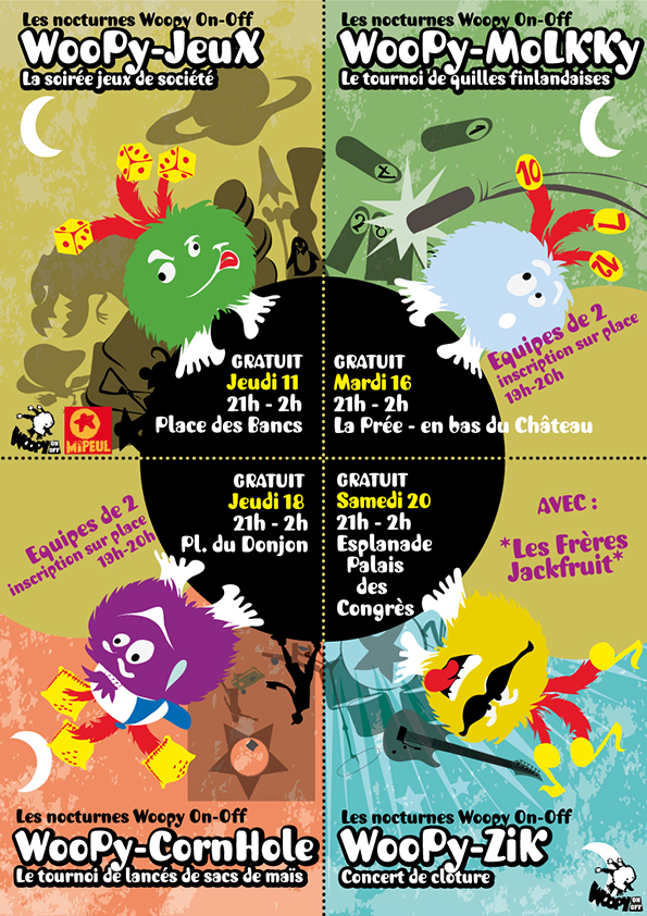 Animations nocturnes Woopy On Off sur le Festival des Jeux