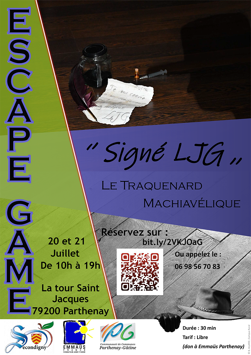 Escape Game - Signé LJG : dans la tour médiévale Saint-Jacques de Parthenay !