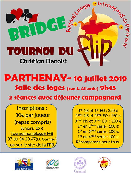 Tournoi de Bridge sur le Festival Ludique International de Parthenay !