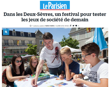 Article du journal Le Parisien sur le Festival International des Jeux de Parthenay : le FLIP