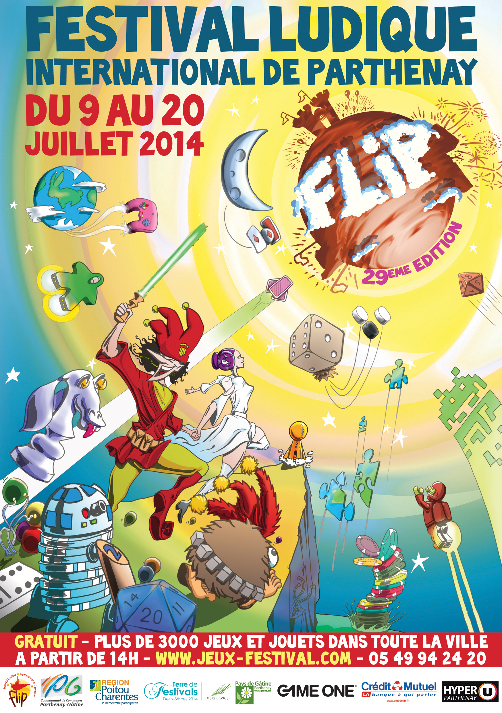 Affiche du Festival International des Jeux de Parthenay - FLIP - 2014